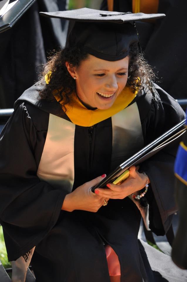 Anderson University graduate. 2015 graduation.